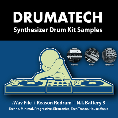 Product picture DRUMATECH Synthesizer Drum Kit Samples