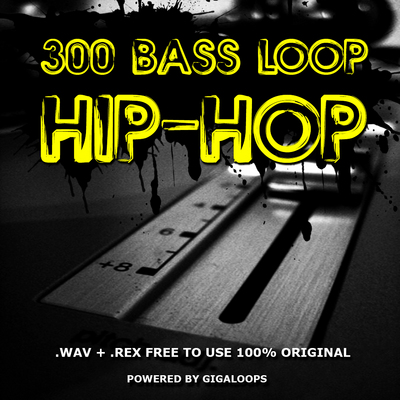 Product picture 300 Hip Hop Bass Loops